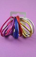 TWELVE SHINY HAIR ELASTICS